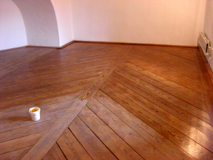 Hardwood Floor Wax solvent applied to remove old wood floor wax Linseed Oil Maintenance Wax