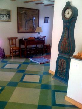 Painted Wooden Floor A Linseed Oil Painted Floor